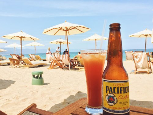 Have a beer on the beach in Puerto Vallarta