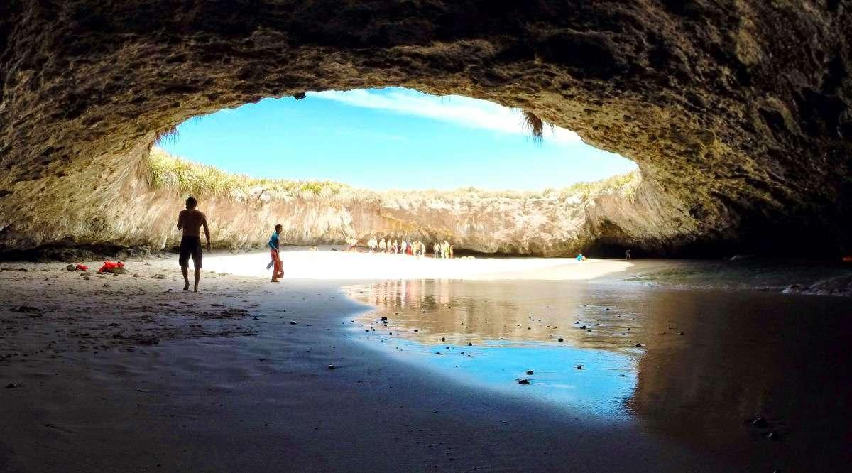 hidden beach Marieta Island, Puerto Vallarta
