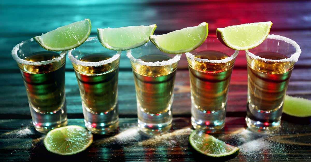 Tequila shots in Mexico