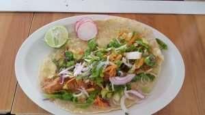 shrimp quesadilla at Tacos Mar y Tierra
